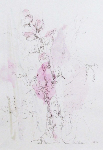 Botany 3, mixed media on paper, 34 x 24cm