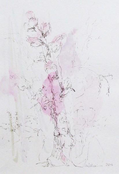 Botany 3, mixed media on paper, 34 x 24cm