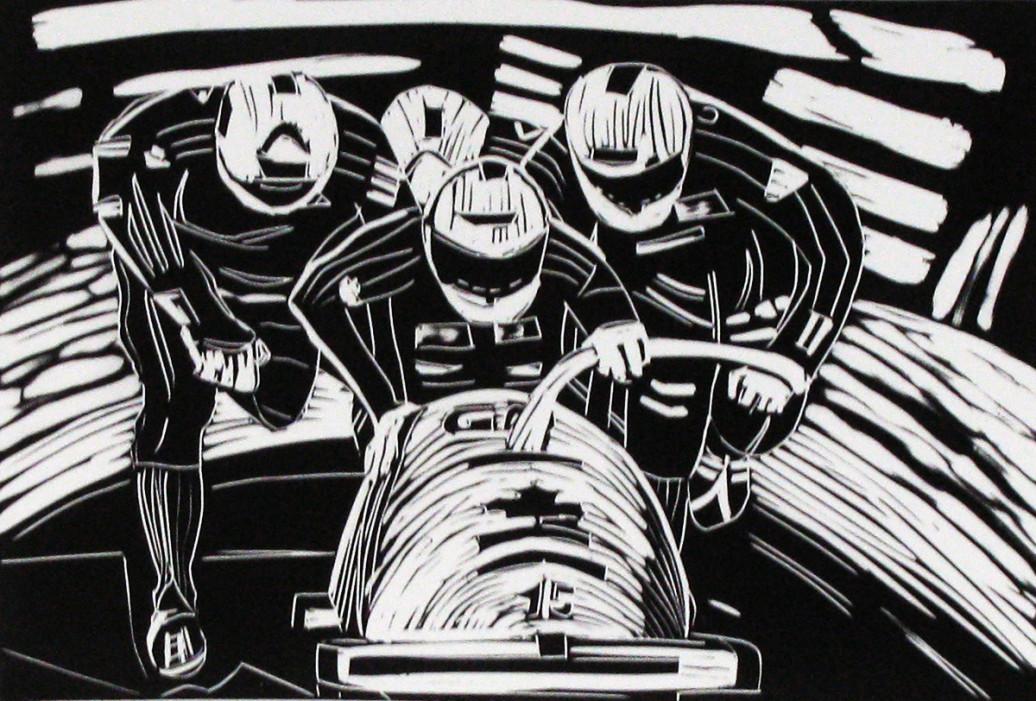 GoodGrasp, Serie 25, vinylcut on paper, 6x83-4in