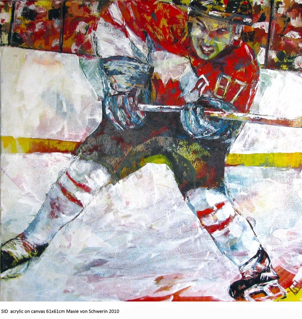 Sid, acrylic on canvas, 24x24in