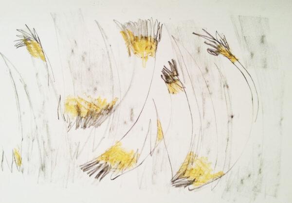 Temp2, mixed media on paper, 44 x 63cm